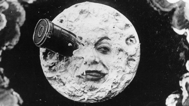Still from Georges Méliès's, 1902 film, A Trip to the Moon.