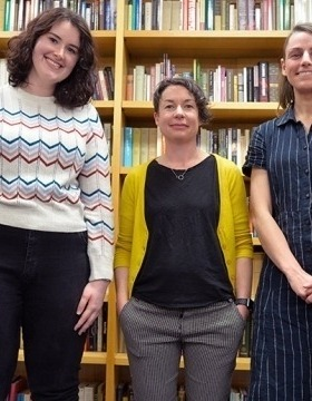 L to R: Louisa Kirk, Dr Julieanne Lamond, and Kathryn Hind