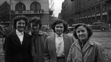 Women In Prague, 1956 Photo: FORTEPAN / Nagy Gyula / Wikimedia Commons. CCY BY-SA 3.0