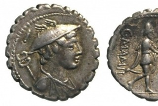 A denarius is a silver coin
