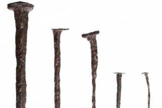 Five iron nails